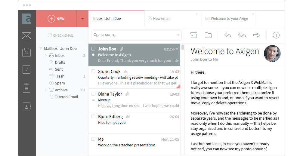 New Features in AXIGEN Mail Server X