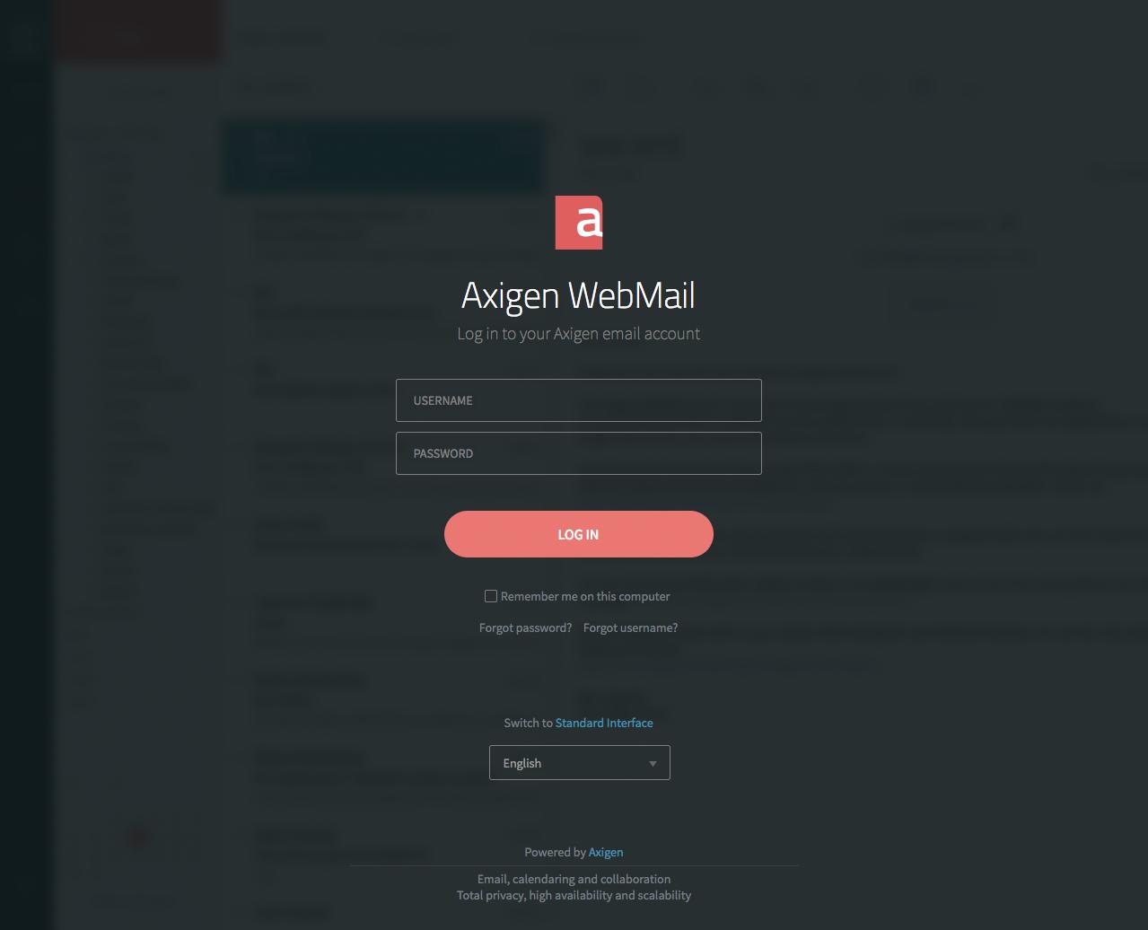Customizing / Skinning Your WebMail Interface | Axigen