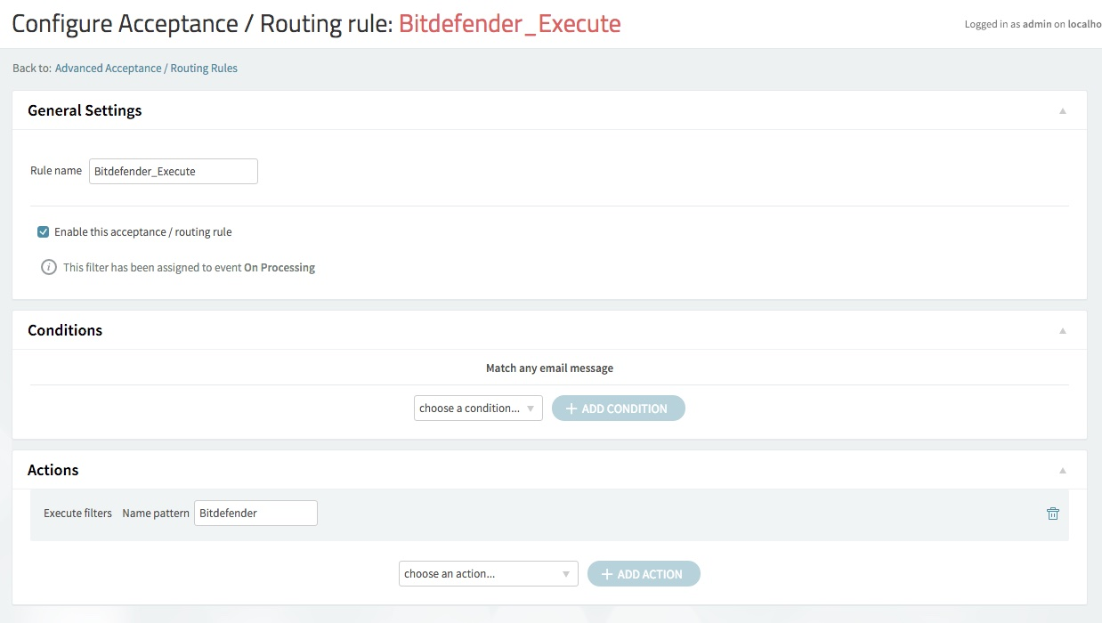How to integrate Axigen with Bitdefender Security for Mail