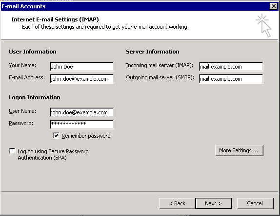 how to delete imap emails from server