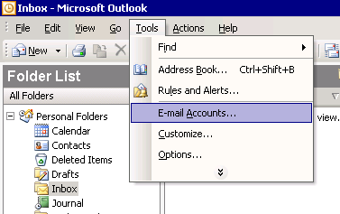 Axigen Mail Server - How to configure Outlook 2003 to work