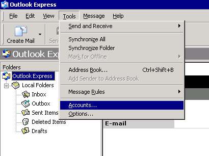 Axigen Mail Server - How to configure Outlook Express 6 to